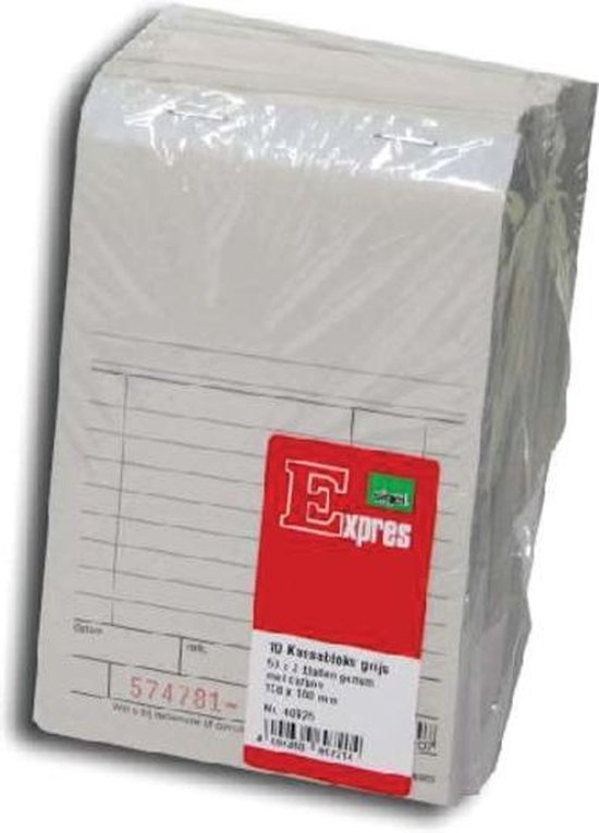 Afbeelding van 10x Kassablok -bonnenboekje Expres SI-40925 - 100x158mm - 50x2vel