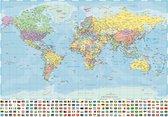 Wereld ansichtkaarten set 15 postkaarten 10.5 x 15 cm