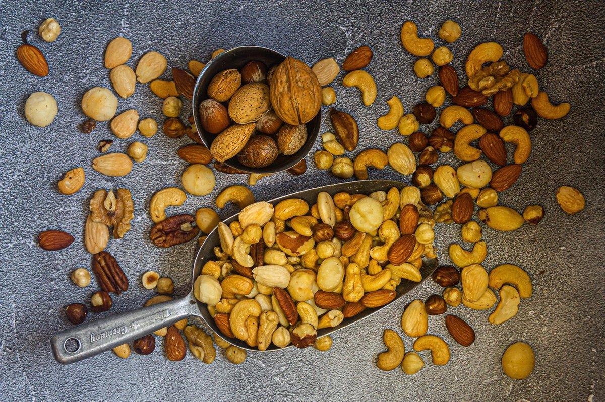 Gemengde notenmix gebrand ongezouten 500 gram   Gezonde voeding   Rijk aan vitamines, mineralen en e