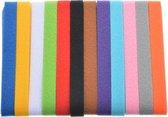 Puppy halsbandjes  22 cm x 1 cm - Puppy ID - Puppy collars - 12 stuks  mt S - bandjes voor puppy's - onderscheid bandjes hond -