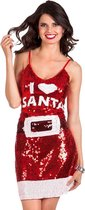 Kerstjurk I love Santa (M) - Carnavalskleding
