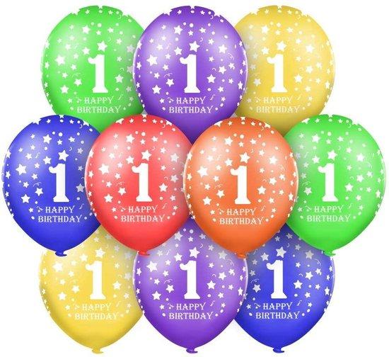 30 x Ballonnen 1 jaar - Party - Verjaardag - Kinderfeestje - Leeftijd versiering - Happy Birthday
