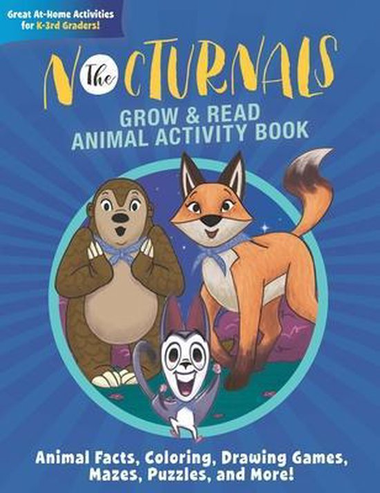 The Nocturnals Grow & Read Animal Activity Book