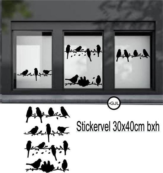 Bol Com Raam Muur Sticker Vogels Op Meerdere Takken Decoratie Decoratief Vrolijk 30 Cm