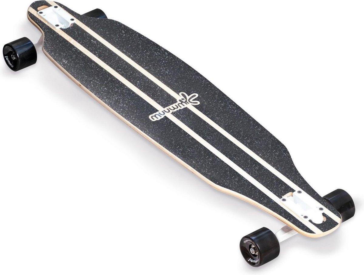 Muuwmi Longboard Wood 97 X 23 Cm Hout Beige/zwart