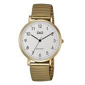 Q&Q heren horloge double met rekband QA20J034Y