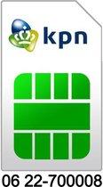 06 22-700008 | KPN Prepaid simkaart | Mooi en makkelijk 06 nummer