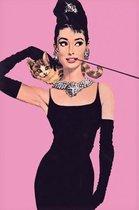 Audrey Hepburn poster -Breakfast at Tiffany's-kat- 61 x 91.5 cm.