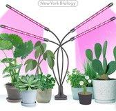 New York Biology™ - Kweeklamp LED Full Spectrum | Groeilamp voor Planten | 40 Watt | Automatisch Timer voor 3-9-12 uur voor beste resultaat