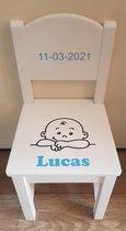 Kinder stoeltje ''Baby Lucas''  - Gepersonaliseerd - kraamcadeau - Met naam