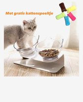 Dieren Water & Voer Set - Dubbele Voerbak Voor Huisdieren -Voor Katten en Honden