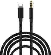 iPhone Lightning naar Headphone Jack Audio Aux Kabel - Iphone auto kabel - 3.5 mm - 1 Meter - Zwart