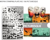 Moyra Stamping plate 106 - Picturesque