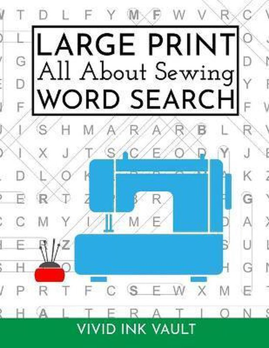 Large Print All About Sewing WORD SEARCH