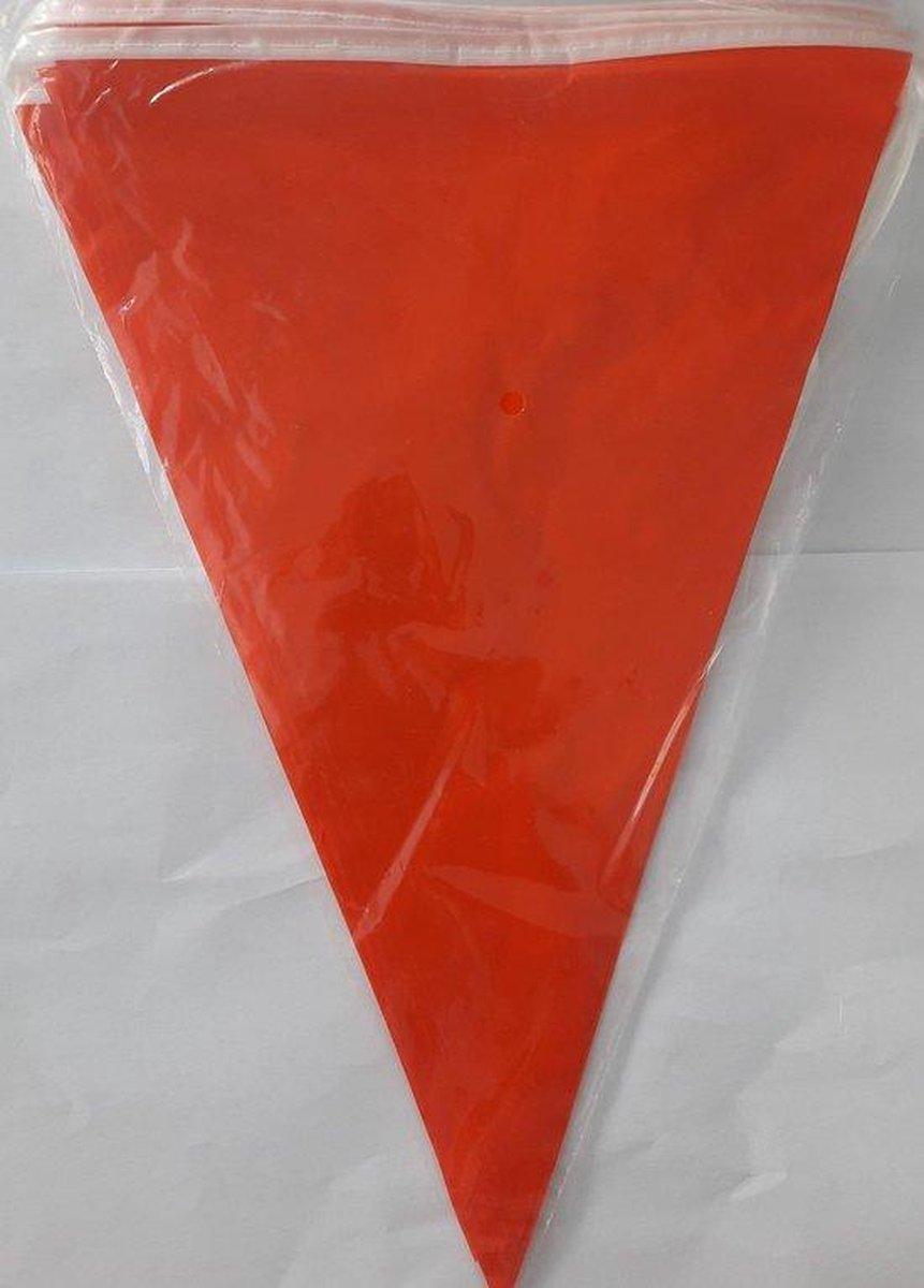 Oranje Vlaggenlijn 10 meter (20 vlaggetjes) - Koningsdag - Voetbal EK/WK