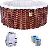 Opblaasbaar jacuzzi - Avenli Nice Spa -  Bubbelbad voor 4 personen - Inclusief grond/afdekzeil + extra filter