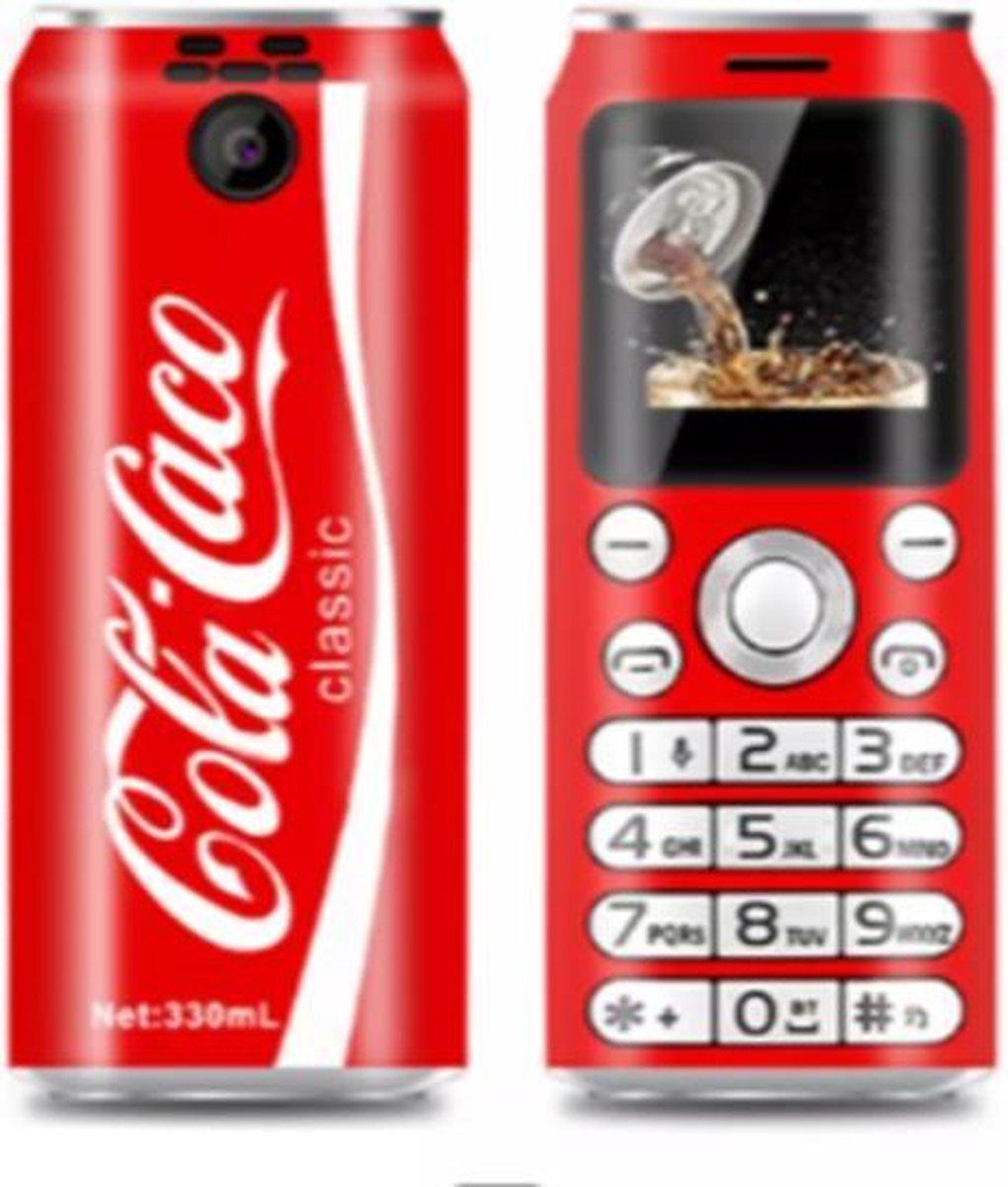 Mini Gsm – Mini Telefoon – Coca Cola  Kleine Gsm –  Kleine Telefoon – Coca Cola Mini Gsm – Met Dual Sim – Buletooth & Camera 2 simkaarten in een telefoon !
