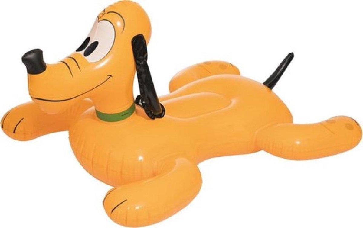 Disney Junior Pluto Zwemband XL | Voor Zwembad of Strand | Extra Groot: 117 x 107 cm | Met Handgreep | Bestway