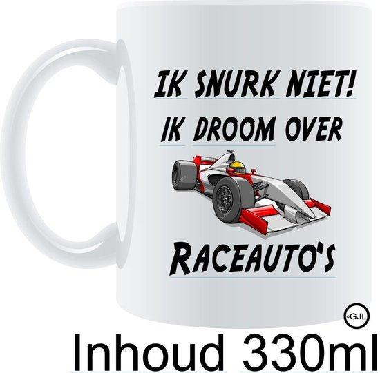 Bedrukte Beker - Auto - Racen - Formule 1 -  Raceauto`s Rijden - Verjaardag - Vaderdag - Cadeau - Gein - Funny - Geschenk - Gepersonaliseerd -Tekst - Quote