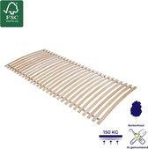 Lattenbodem - Hout - 28 elastische veerlatten – Ligcomfort – duurzaam - 140x200