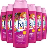 Fa Kids Mermaid Douche & Shampoo 6x 250ml - Voodeelverpakking
