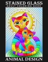 Stained Glass Adult Coloring Book - Animal Desing