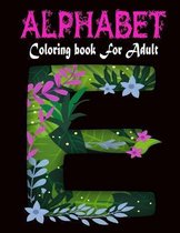 Alphabet Coloring Book For Adult