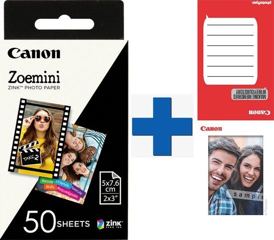 Afbeelding van Canon ZINK 50 sheets zelfklevend Fotopier + 20 sheets fotoframes