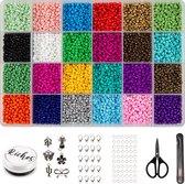 Riches® Kralenset Creative Colors - 3mm - Glaszaad - Kit voor Sieraden Maken - Hobby - Volwassenen - Kinderen - Bedels - Kralen set - Kralendoos