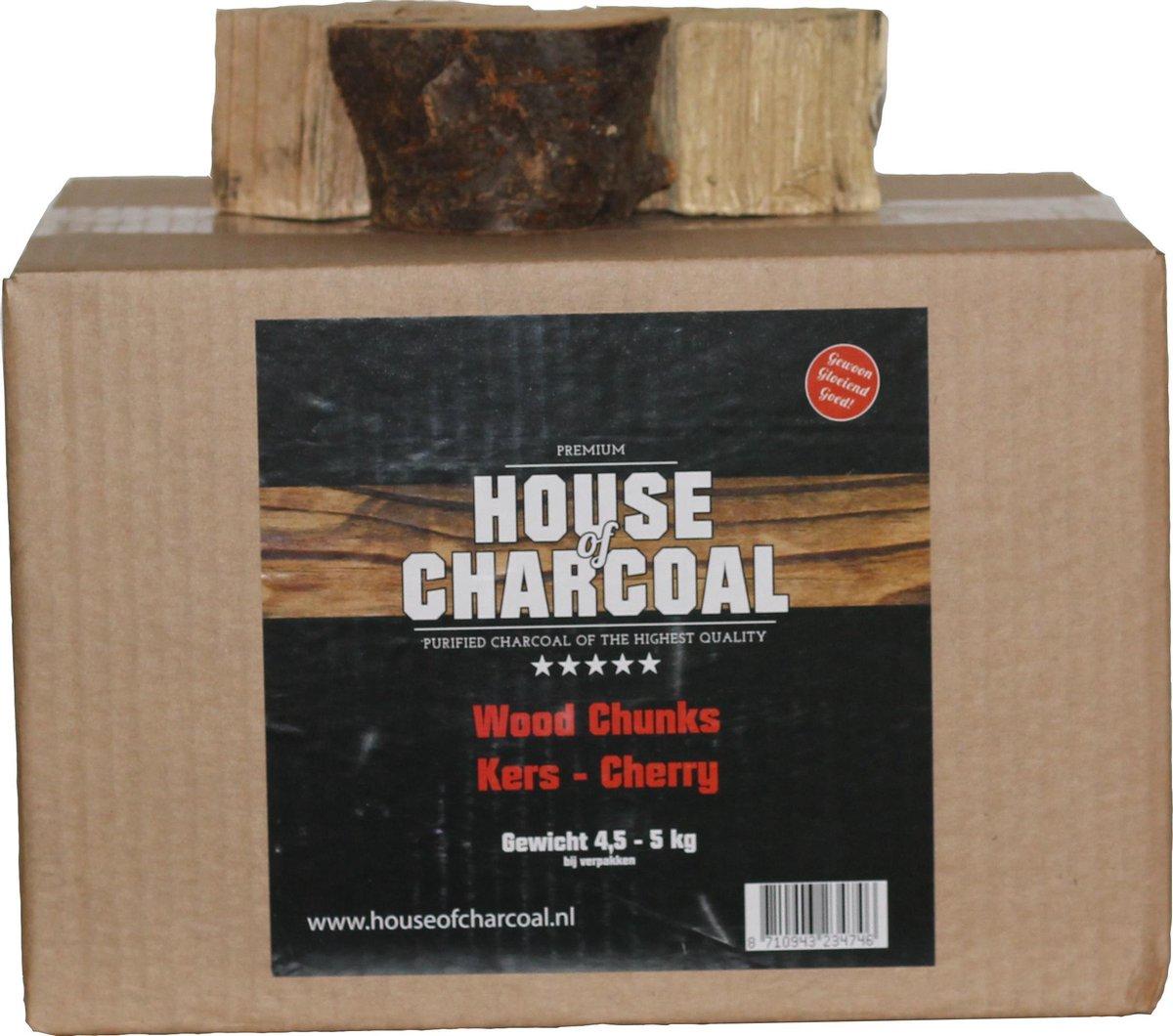 Rookhout chunks Kersen - Smoking wood chunks Cherry - 5 kg