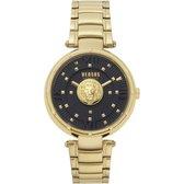 Versus Versace Moscova Gold Black - Dameshorloge - VSPHH0720 - Goud - Zwart - Roestvrijstalen horlogeband - 38 MM