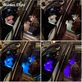 Golden Light LED Autoverlichting voor Interieur met Afstandbediening - Ledstrips - RGB Binnenverlichting LED Strips - Binnen Verlichting Auto - Sfeerverlichting - Auto Accessories Interieur - 12V