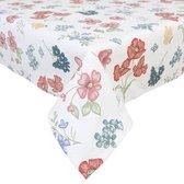 Clayre & Eef - Tafelkleed - 100% Katoen - Veldbloemen - Bloemen Motief - 150 x 150 cm