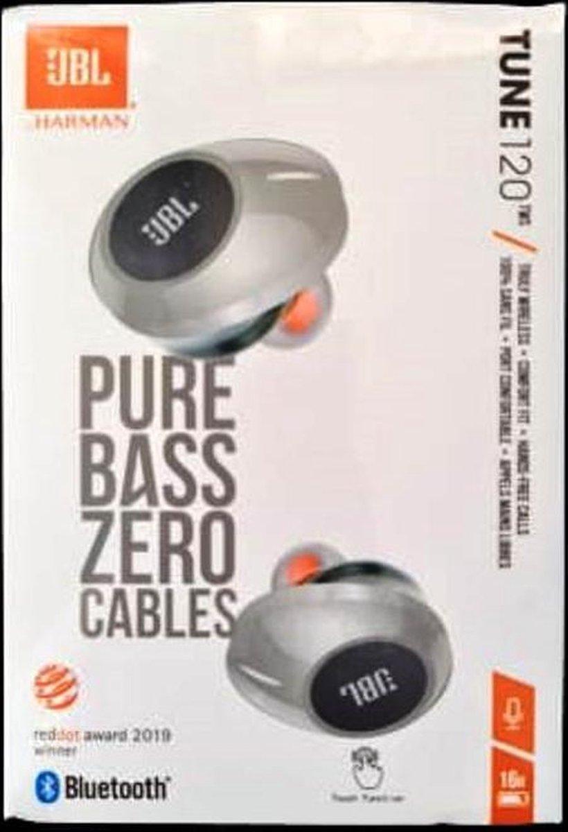 JBL Tune 120TWS - Volledige draadloze oordopjes - Grijs