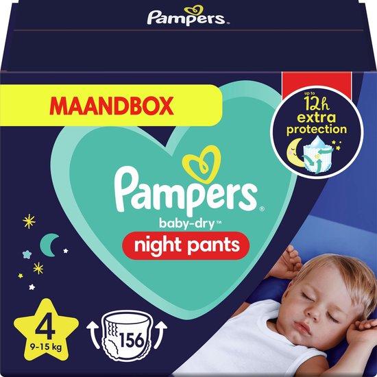 Pampers Night Pants - Maat 4 (9-15kg) - 156 Luierbroekjes - Maandbox