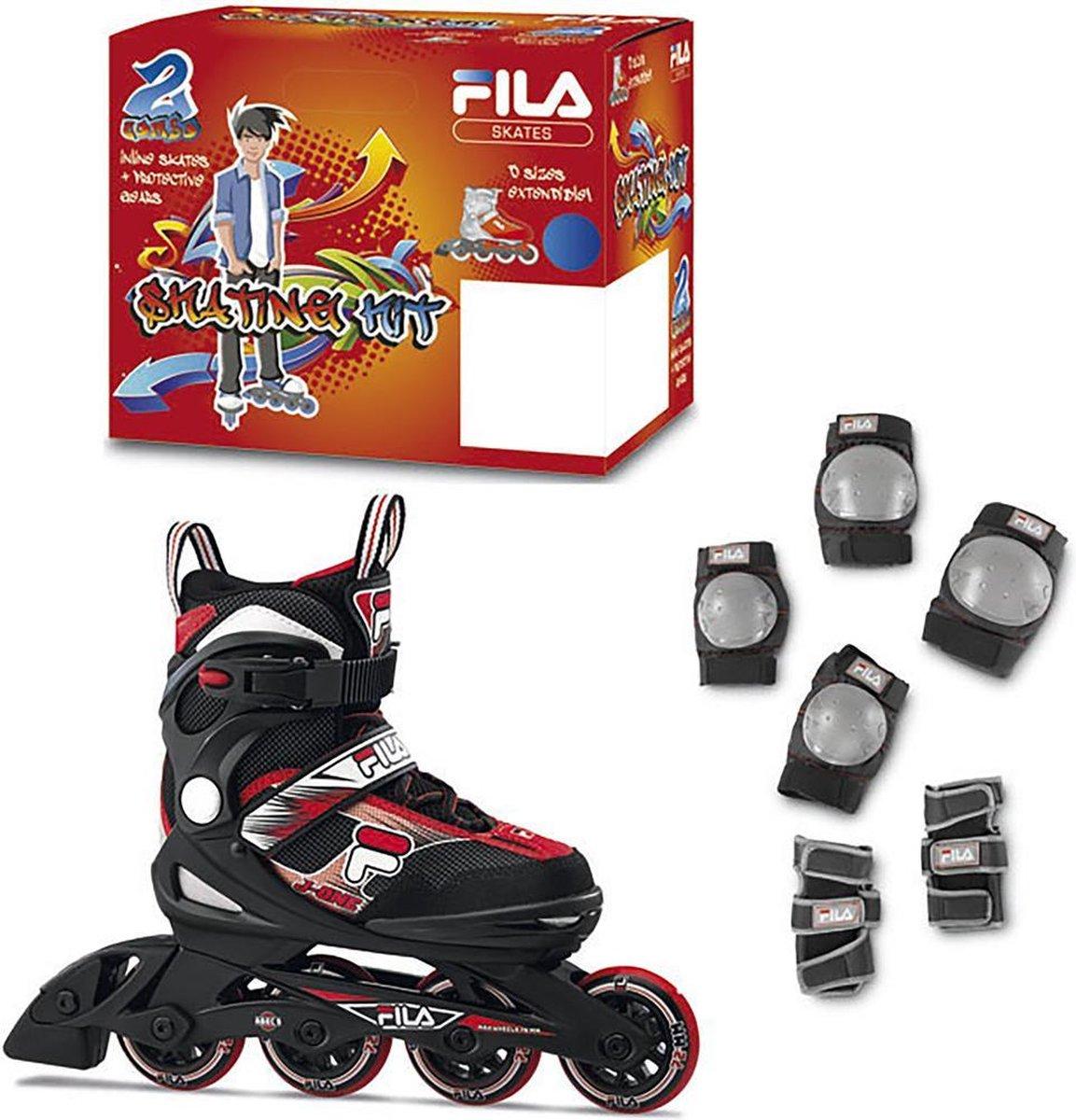 Fila Skates J-One Rood Maat 32-36 met Bescherming