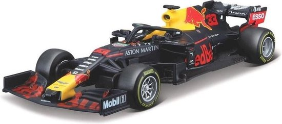 Red Bull RB15 (2019) F1 #33 M.Verstappen (10cm) 1/43 Bburago + Unieke modelauto sticker! - Modelauto - Schaalmodel - Model auto - Miniatuurautos - Miniatuur auto - Formule 1