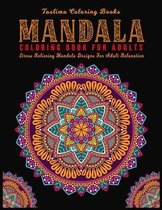 Mandala Coloring Book For Adults: ( Black Background ) Coloring Pages For Meditation And Happiness Adult Coloring Book Featuring Calming Mandalas desi