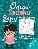 Omas Sudoku Buch im Großdruck - 120 mittel schwere Rätsel für Senioren: Gedächtnistraining für die tollste Oma der Welt - Sudoku Rätselbuch für Erwach