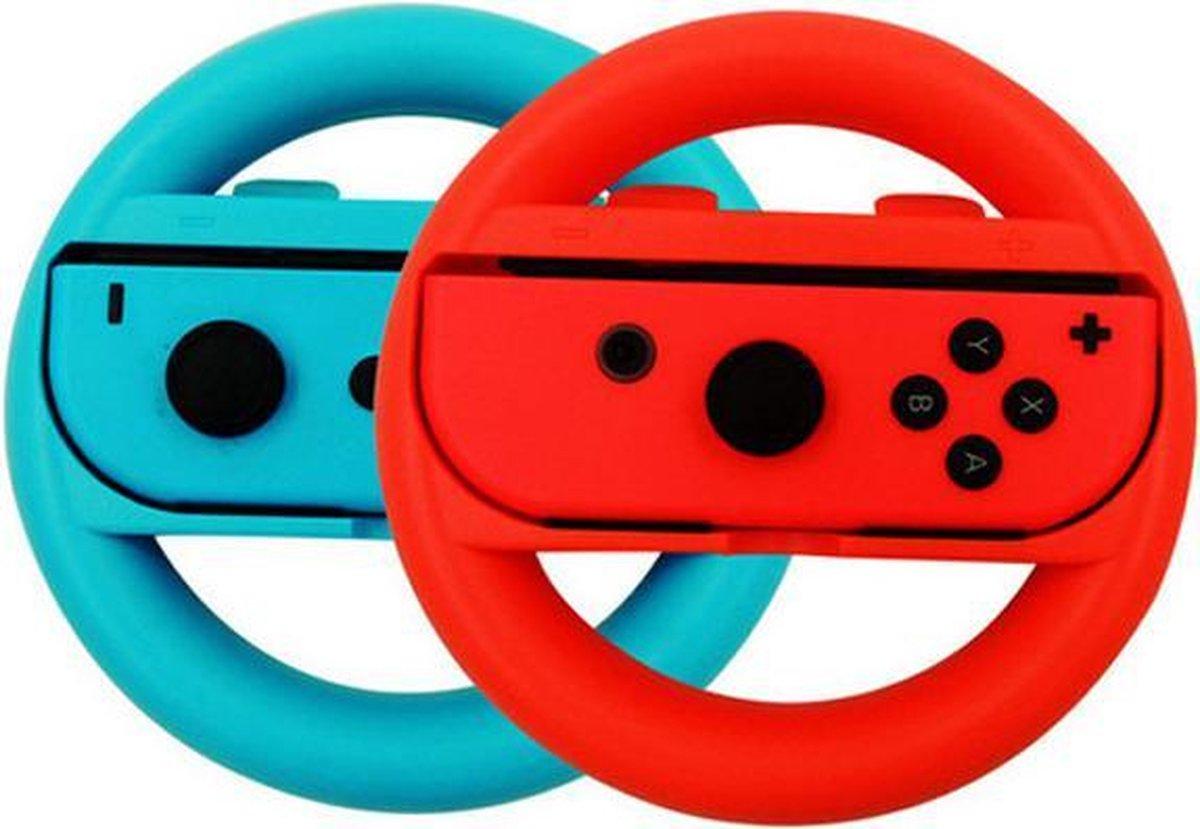 Switch stuur voor Joy-Con - 2 stuks - Rood/Blauw - Nintendo Switch Accessoires - Geschikt voor Ninte