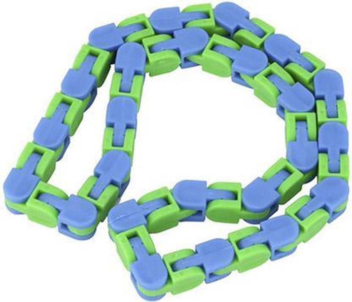 Wacky tracks | fidget toys | ketting | groen - blauw