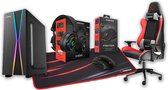 Rampage Gaming Stoel, X-Max Gaming PC Behuizing/Toren, Gaming Headset, Gaming Muis & Muismat. Combo Deal