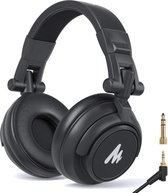 Maono MH-601 DJ Koptelefoon | Studio Koptelefoon met draad | Over Ear Koptelefoon | Hoofdtelefoon | DJ set - Zwart