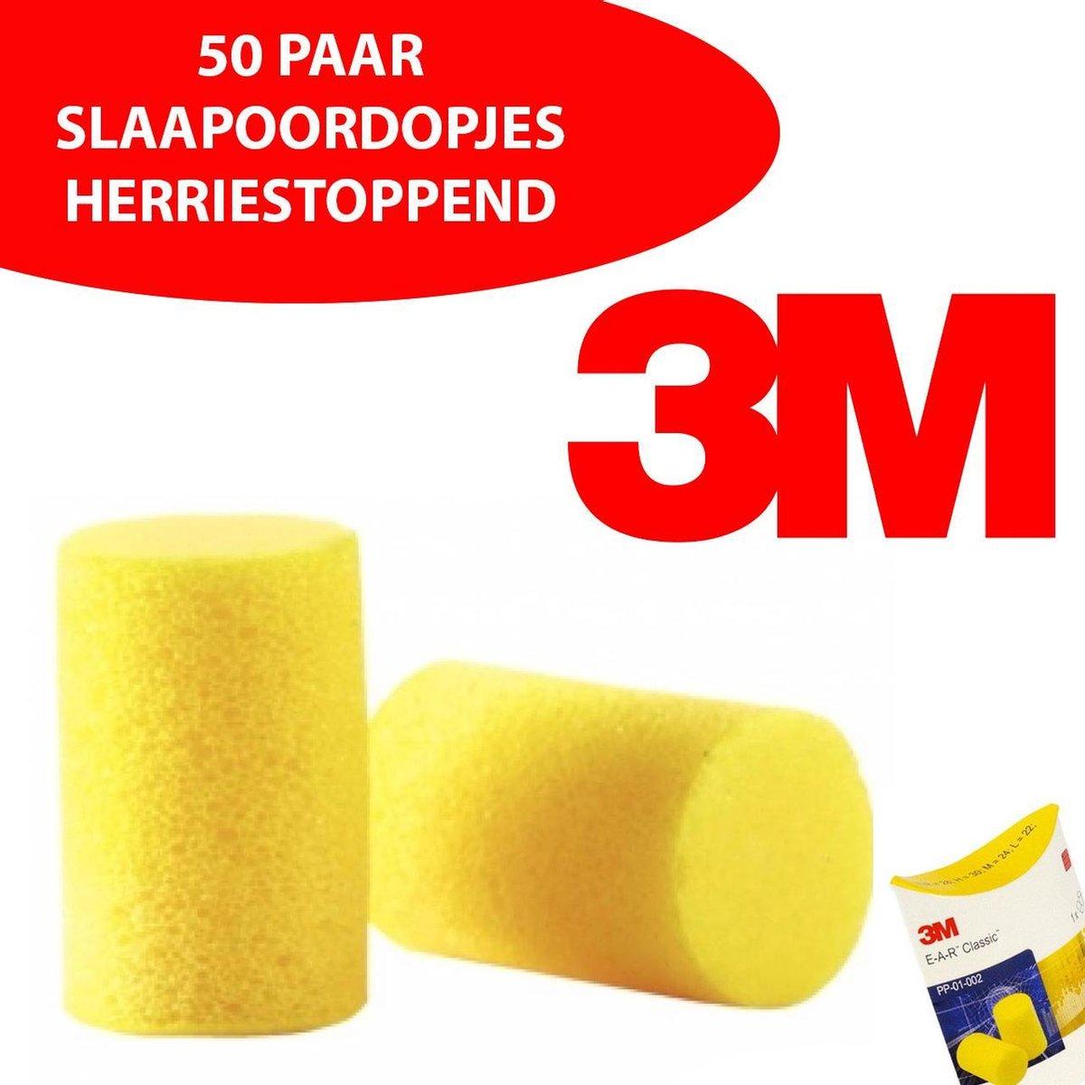 50 setjes Herriestoppende 3M OORDOPPEN - EAR CLASSIC 28dB