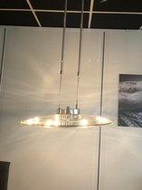 TeleBeni Smokey zwart glazen hanglamp verstelbaar incl HG lampjes en geschikt voor LED