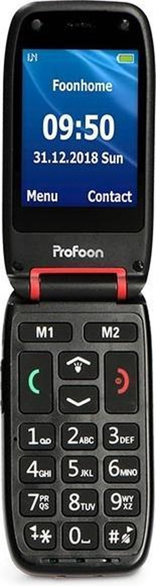 Profoon PM-660 RD Senioren mobiele klaptelefoon