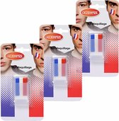 3x Schmink stick rood wit blauw - Koningsdag/ Holland schmink