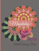 Mandalas Adult Coloring Book - Mandala Coloring Book - Hardback Covers