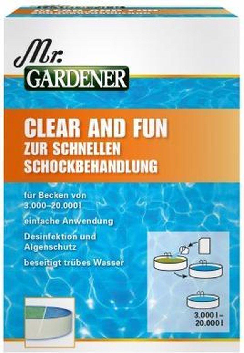 MR.GARDENER HELDER EN FUN VOOR SCHOKBEHANDELING, 5 ZAKKEN zwembad MR.GARDENER CLEAR AND FUN FOR SHOCK TREATMENT, 5 BAGS for pool