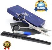 Professionele roestvrij staal 6 Inches Kappersschaar Linkshandige Knipschaar haar - Haar & Baard Schaar voor dik haar (Barber Scissor)